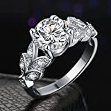 Karatcart Platinum Plated Elegant Austrian Crystal Ring for Women
