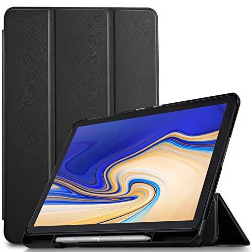 "IVSO Custodia Cover per Samsung Galaxy Tab S4 10.5 SM-T830N/T835N, Slim Smart Protettiva Custodia Cover con Auto Wake/Sleep Function per Samsung Galaxy Tab S4 SM-T830N/T835N 10.5"" 2018, Nero"