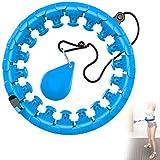 Outinhao Smart Hula Hoop voor volwassenen, met bal, verstelbaar gewicht en maat, 360° massage van elke spier in taille, niet
