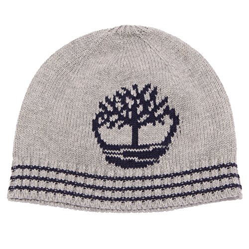 Timberland 1753W cuffia bimbo cotton light grey beanie hat boy [3 MONTHS] (Timberland Hat)