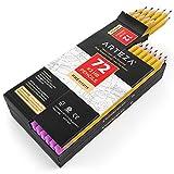 Arteza Bleistift, HB2 vorgespitzte Holzbleistifte mit latexfreien Radiergummis, 72-er Pack