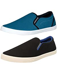 Chevit Men's Combo Pack of 2 Casual Shoes (Loafers and Mocassins)
