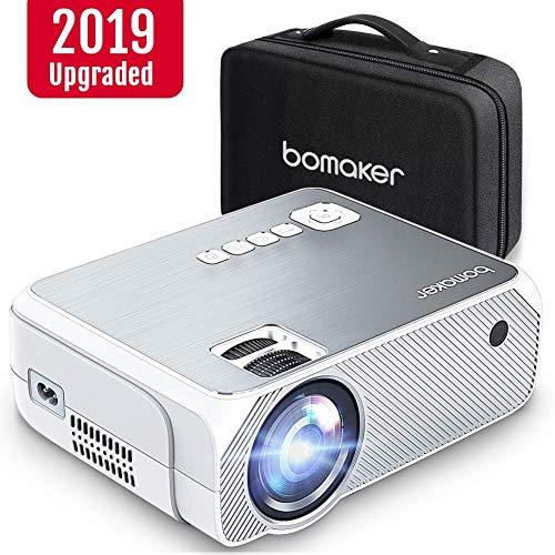 Proiettore, mini proiettore portatile 3600 lumen, bomaker lcd videoproiettore risoluzione nativa 720p hd(supporta 1080p) con borsa per casa /viaggio/estero, compatibile cellulare/ps4/tv box/ micro sd