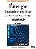 Énergie : Économie et politiques