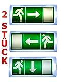 2 pcs luz de emergencia alumbrado de salir de emergencia escape de ruta luz de emergencia salida exit IL PF