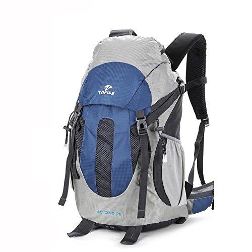 ALUK-Outdoor-Klettern Tasche Schulter Reisesuspendierung atmungsaktiv, wasserdichte Wander Schultern kleiner Rucksack Blau