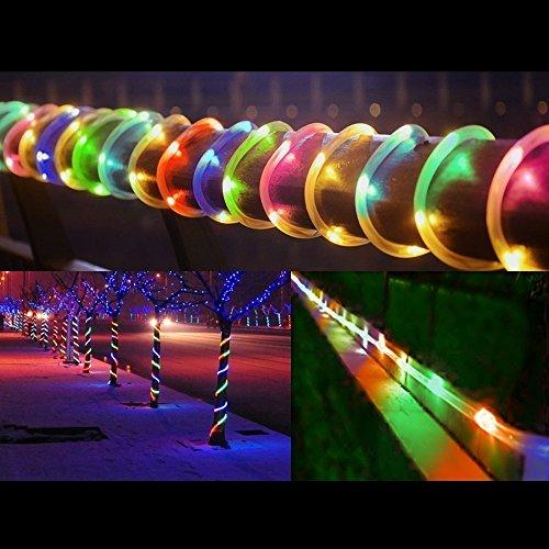 SUAVER Solaire rohrleuchten, étanche 39 ft 100 Lumières Solaire Tube en cuivre Corde Lumières pour Noël Mariage décoration A Mehrfarben
