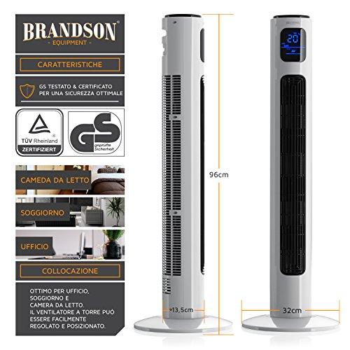 Brandson Ventilador de Torre con Mando a Distancia