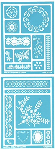 Plaid Enterprises Inc. Martha Stewart Selbstklebende Schablone Set Jahrmarkt Isle Dots (Template Set Airbrush Stencil)