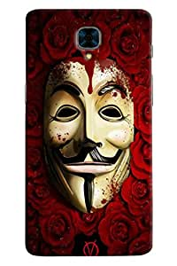 Omnam Joker Mask With Moustache Printed Designer Back Cover Case For OnePlus Three