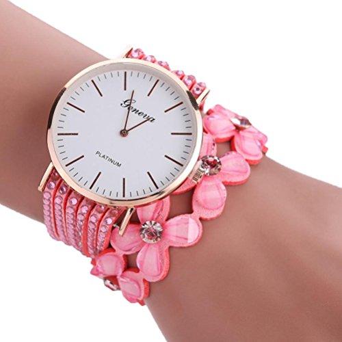 Xinantime Relojes Pulsera Mujer,Xinan Flores Reloj de Cuarzo Brillante