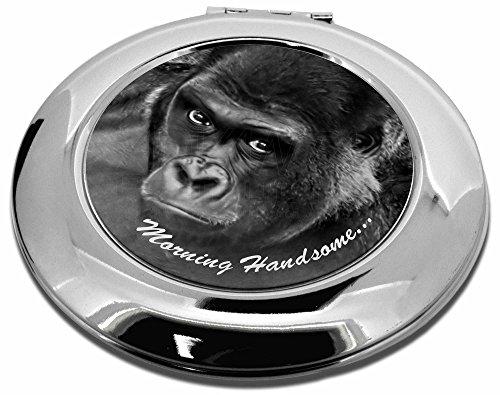 Gorilla mit 'Morning schön'... Make-up Rund Taschenspiegel Weihnachten Geschenk Mh Compact