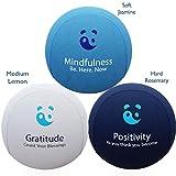 3x Stressbälle für Körper und Geist - AROMATHERAPIE & POSITIVE AFFIRMATIONEN, um Angst zu lindern & die Stimmung aufzubessern! Der beste anti-stress balle Knetball