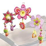 Tiny Love - Spielbogen Butterfly Stroll, mit Rasselspielzeug, nutzbar ab der Geburt (0M+) universelle Befestigungsclips passend für fast alle Tragetaschen, Babyschalen, Kinderwagen oder Baby-Autositze