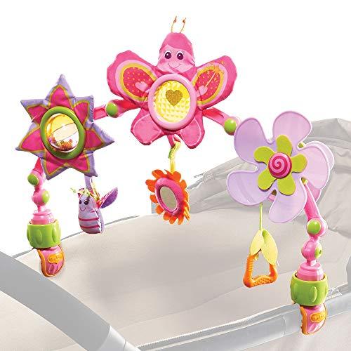 Tiny Love - Spielbogen Butterfly Stroll, mit Rasselspielzeug, nutzbar ab der Geburt (0M+) universelle Befestigungsclips passend für fast alle Tragetaschen, Babyschalen, Kinderwagen oder Baby-Autositze -