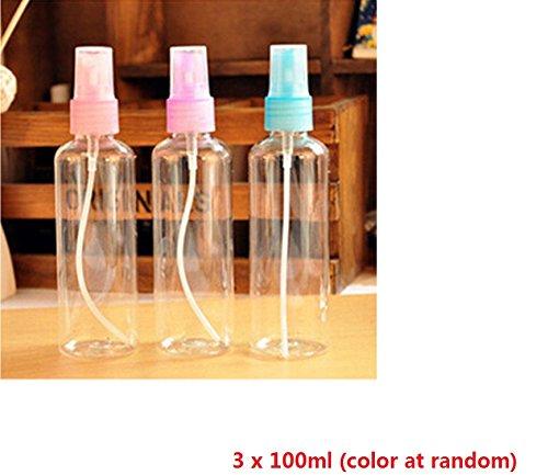 Distinct® 3 x 100ml Travel transparente kleine leere Kunststoff Parfum Zerstäuber Sprühflasche