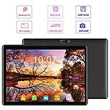 4G Tablet 10.1 Pollici con WIFI Offerte Android 9.0 Quad Core 3GB RAM 32GB ROM/Fino a 128GB 8500mAh Tablet PC Offerte DUODUOGO G10 Doppia Fotocamera 8MP 5MP Dual SIM Bluetooth GPS OTG (Nero)