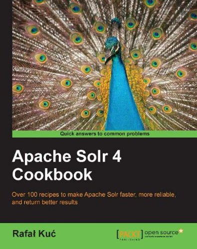 Apache solr 4 cookbook by rafal kuc.