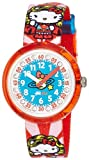 Flik Flak FLNP017 DC HELLO KITTY SUPERGIRL Uhr Mädchen Kinderuhr Stoffband Kunststoff 30m Analog mehrfarbig