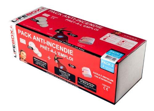 LifeBOX Sicherheitspaket Wohnung-2Beißalarme Rauchmelder + 1FEUERLÖSCHER 1kg + Feuerlöschdecke