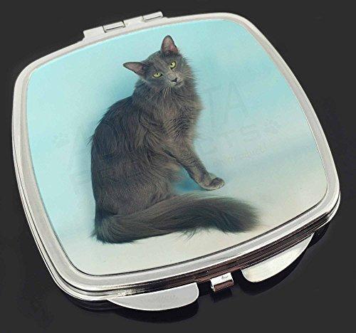 Silver Grey Javanese Katze Make-up Taschenspiegel Weihnachtsgeschenk -