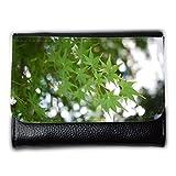 Portemonnaie Geldbörse Brieftasche // M00157107 Ahorn-grüne Blatt-Makro Natur Pflanze // Medium Size Wallet