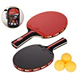 Amaza Set da Ping Pong (Grande Attrito) Professionale con Borsa...
