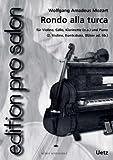 Rondo alla Turca AUS der piano Sonata In La Maggiore (KV 331) per Salon Ensemble (Score e Voci) (Edition PRO Salon)