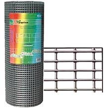 PAPILLON 1200800 - Malla Electrosoldada Galvanizada 13x13/60 cm, rollo 25 metros, uso doméstico