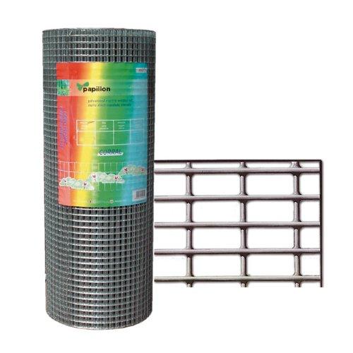 Papillon 1200804 – Grillage galvanisé clôture pour animaux Mt 1 x 25 diamètre 0,80 mm
