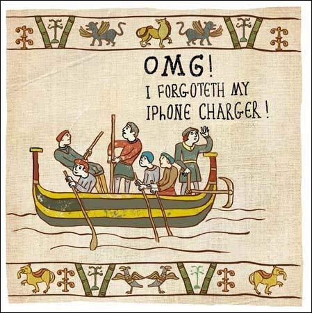 Carte de voeux (Wdm6770)–humoristique–chargeur d'iPhone–Hysterical en Supprimant les historiques d'