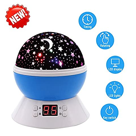 Timer Star Projector with BS UK Adapter, MKQPOWER New Generation