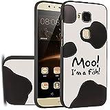 MOONCASE Huawei G8 Hülle, [Cow Skin] Kreativ Bunt Muster