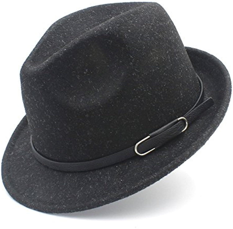 Yetta Home Cappello in - Cappello Donna Fedora in Cappello Lana per  l autunno Inverno Cappello Elegante Lady Gangster Trilby... Parent daa9e7 63ae073865cf