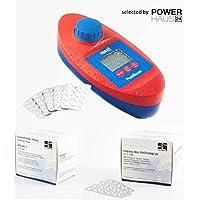 Piscine Can–Piscine Testeur électronique dans boîte de rangement pratique inclus 60Comprimés de test–Plus 1000comprimés de test (par 500DPD1/Phenol Red)–Utilisation Dans le piscine ou privé Jacuzzi (baugleich avec Scuba II®)