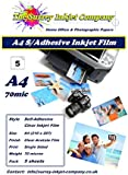 A4 Clear Self Adhesive Inkjet Sticker Label Film with Paper Backing Sheet 5 Sheets