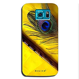 Mozine Flute And Feather Printed Mobile Back Cover For Samsung S6