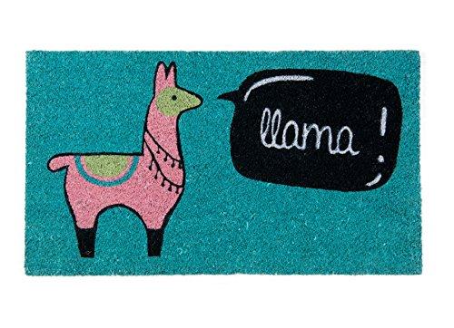 Fisura DM0693 Felpudo Original y Divertido Entrada Casa LLAMA Multicolor 70 X 40cm