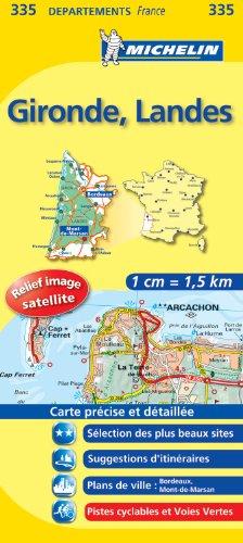 GIRONDE / LANDES 11335 CARTE ' LOCAL ' ( France ) MICHELIN KAART (KAARTEN/CARTES MICHELIN)