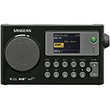 Sangean WFR-27C - Radio (internet, digital, DAB+, FM, 2 W, LCD) color negro