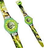 alles-meine.de GmbH Armbanduhr -  Star Wars - Yoda / Jedi  - Incl. Name - 3-D Effekt Motiv - Ana..