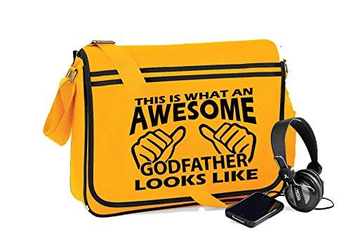 Fantastico Padrino Unisex Divertente Proverbio Novità Retro Messenger Bag Oro