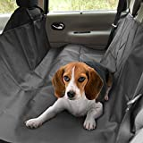 Tapicería de Coche Protector, Migimi Asiento Cat piezas nuevo perro de mascota cubierta de seguridad Cama impermeable para su coche (Negro)