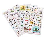 DIY Handbook Stickers Nette Aufkleber Aufkleber-Set von 5 / Schwein