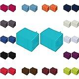 Waschlappen 20er Pack Sparpreis in vielen Farben 15x21 cm 100% Baumwolle Türkis