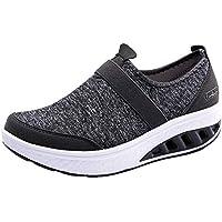 ☺HWTOP Damen Sneakers Sportschuhe Laufschuhe Dickschuhe Turnschuhe Fashion Frauen Schnürstiefel Schuhe Atmungsaktives Leichte Schuhe Trainer Outdoor Freizeitschuhe Fitnessschuhe Wedge Sneakers