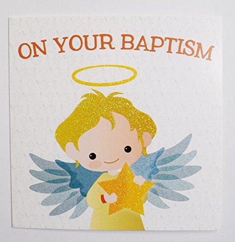 Auf Ihrem Taufe Grußkarte Angel Kinder Religion Psalm Luxus Unisex Junge Mädchen