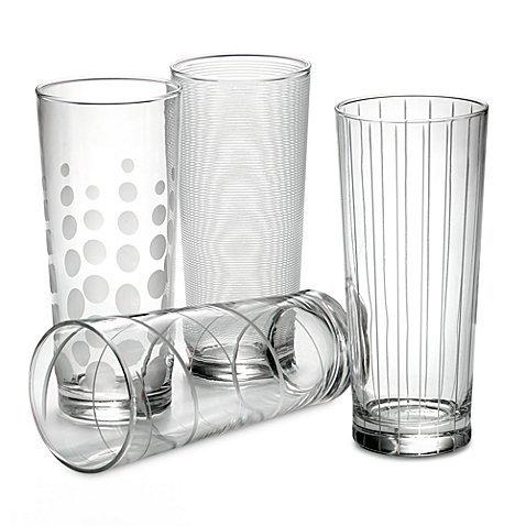 Mikasa Cheers Highball-Gläser, 4er-Set aus Glas, 48,3 ml, von Mikasa Mikasa Cheers Highball