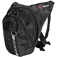 Trendyest Bolso para Piernas Cintura Impermeable Bolso de Pierna Pierna Exterior Moto Montando Paquete de Coño (Negro B