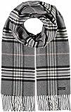 FRAAS Schal aus reinem Cashmink für Damen & Herren - Made in Germany - warmer XXL-Schal - Plaid weicher als Kaschmir - karierter Winter-Schal Grau